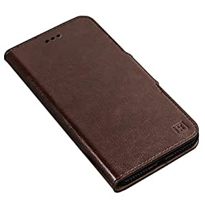 Olixar - Wallet Case Compatible with Samsung Galaxy S10 Plus - PU Faux Leather - Slim Protective Cover - Card Storage Slots and Built in Media Viewing Stand - Leather Style (Brown)