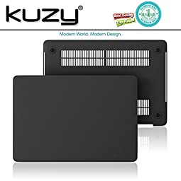 Kuzy - MacBook Pro 13 Case 2016, A1706 & A1708 - Rubberized Hard Case (NEWEST Release October 2016) with/without Touch Bar & Touch ID Shell Cover 13-inch - BLACK