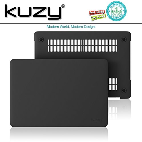 MacBook Pro 13 inch Case 2018 2017 2016 Release A1989 A1706 A1708, Kuzy Plastic Hard Shell Cover for Newest 13 inch MacBook Pro Case with Touch Bar Soft Touch - Black by Kuzy (Image #6)