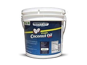 1 Gallon Organic Coconut Oil | 100% USDA Organic Virgin Organic Coconut Oil