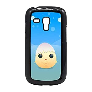 Case Fun Case Fun Little Chick with Egg Shell by DevilleART Snap-on Hard Back Case Cover for Samsung GalaxyS3 Mini (I8190)