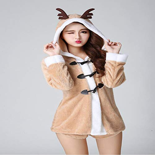 - CVCCV Christmas Costumes Jackets Shorts Gold Velvet Women's Wear One Size