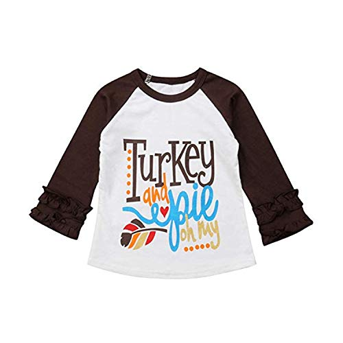 Christmas Cotton T-Shirts Top Outfits Blouse for Toddlers