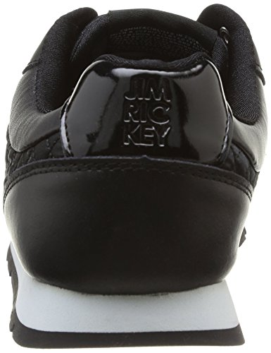 Jim Rickey Ballistic Nylon Leather, Sneaker Uomo Nero (Noir (Black Quilted))