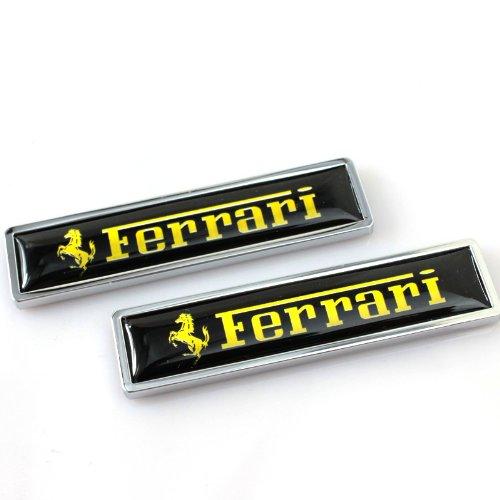 Zhmyyxgs 2 Pcs Metal Decorative Logo Badge Sticker Refit Logo Auto Car Rear Side Fender Stickers Accessories for (Ferrari) ()