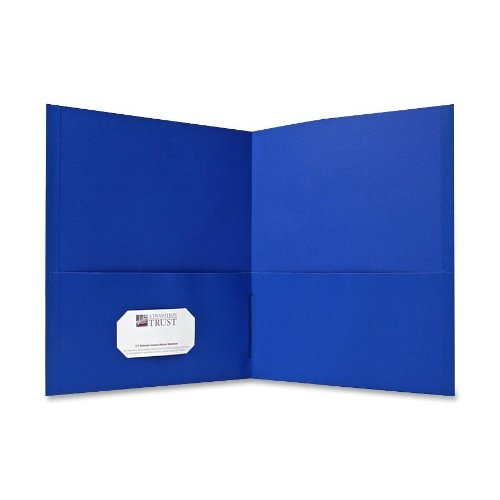 (Sparco Double Pocket Portfolio, 125 Sheet Capacity, 25 per Box, Light Blue (SPR71436))