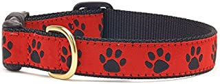 product image for Up Country Red Black Paw Dog Collar - Medium (Narrow)