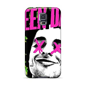 Scratch Resistant Hard Cell-phone Case For Samsung Galaxy S5 (LmP3696GHyy) Custom Fashion Green Day Pattern
