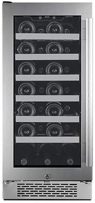 Thermal Electric 8 Bottle Wine Cellar with Mechanical Adjustable Thermostat Black, Commercial Cool CCWT080MB