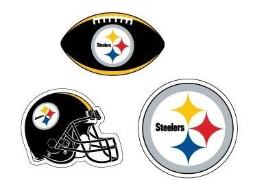 c7a4377181a Amazon.com  NFL Pittsburgh Steelers Stickers Variety Pack of 3 with ...