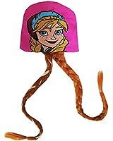 Disney Frozen Anna Hot Pink Hat with Braided Hair [4012]