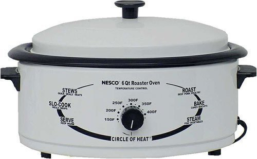 Nesco 4816-14 6-Quart Roaster Oven with Porcelain Cookwell, White Home Supply Maintenance Store