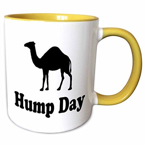 3dRose EvaDane - Funny Quotes - Hump Day - 15oz Two-Tone Yellow Mug (mug_159637_13)