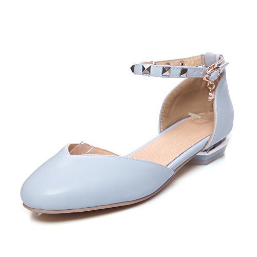 Bleu SLC04181 AdeeSu Sandales 5 EU 36 Femme Compensées Bleu qSqITwf