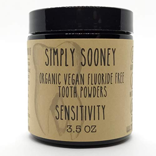 - GLASS JAR Organic Vegan Fluoride Free Remineralizing Tooth Powder SENSITIVITY Formula Cinnamon and Clove Flavor VALUE SIZE 6 MONTH SUPPLY