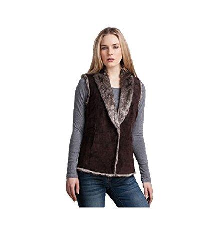 ECRU Women's Reversible Faux Fur Vest 2209-SU (Reversible Faux Fur Vest)