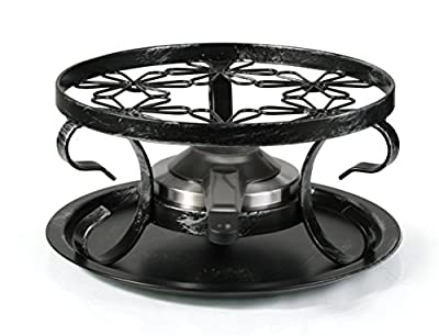Artestia Wrought Iron Rechaud with Fondue Burner (3 Pieces)