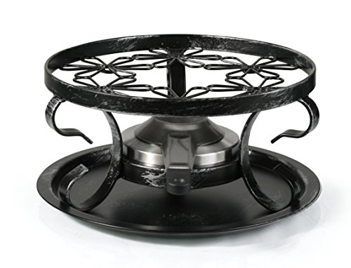 Artestia Wrought Iron Rechaud with Fondue Burner (3 Pieces) by Artestia