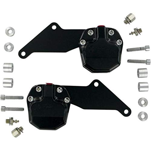 GMA Engineering GMA-200DDB 2-Piston Front Dual-Disc Caliper Kit - Classic Black Contrast Cut