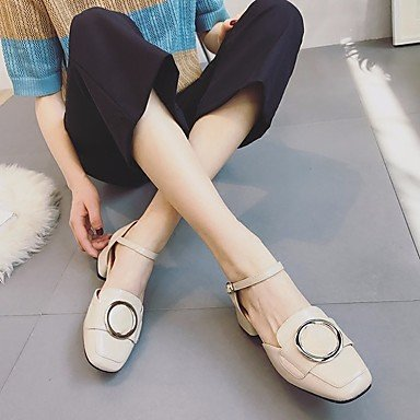 Boots PU cn35 5 5 Heel Mary Winter Jane eu36 black Casual Women's Chunky ggx LvYuan us5 uk3 YqwHEYg