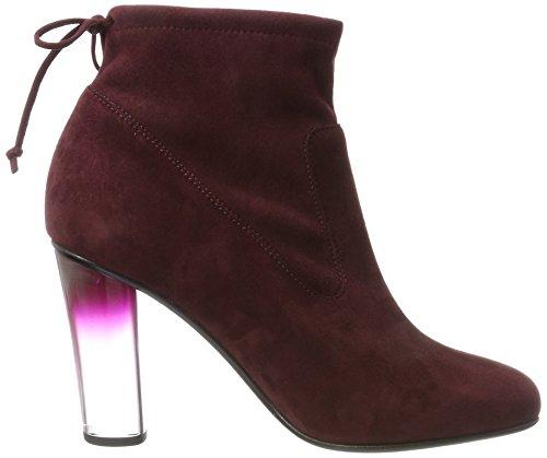 Peter Kaiser Ladies Bruna Hatching Boots Rosso (pelle Scamosciata Cabernet)