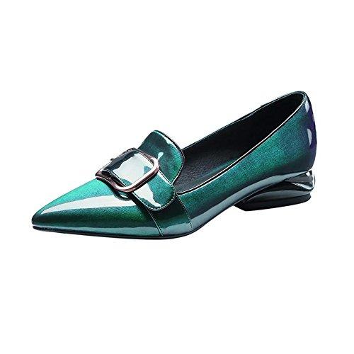 Eu37 Femme couleur Faible Cjc Tribunaux Talon Chaussures Dames Doigt Pied T1 Pointu uk4 Arc Bloc T1 Fête De 5 Travail Brevet Tribunal 5 Taille Chunky AqnRwd