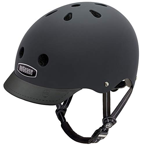 Nutcase - Solid Street Bike Helmet for Adults, Blackish Matt