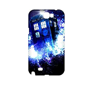 Generic Hard Back Phone Covers For Teen Girls Printing Tardis For Samsung Galaxy Note2 Full Body Choose Design 1-9