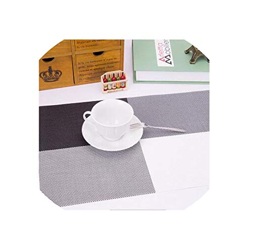 New Table Mats Washing Free Coaster Novelty Cup Cushion Holder Dining Room Decor Drink Placement Mat Against Hot Mat,Black