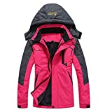 iDWZA Fashion Men's Woman's Autumn Winter Assault Clothing Thickened Fluffy Hooded Coat(Hot Pink,US S/CN M)