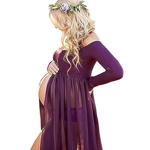 Purple Chiffon Maxi Dress