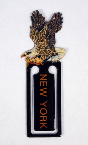 Wholesale Pack Hand Painted American Flying Bald Eagle Bird Bookmark New York Imprint (Set Of 12)