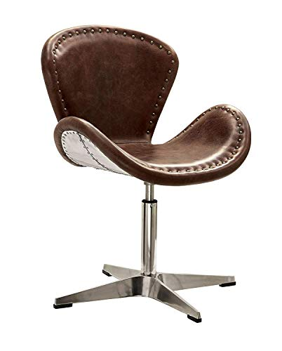 ACME Brancaster Retro Brown Accent Chair with Swivel