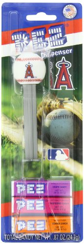 (PEZ MLB Candy Dispensers, Los Angeles Angels, 0.87 Ounce (Pack of 12))