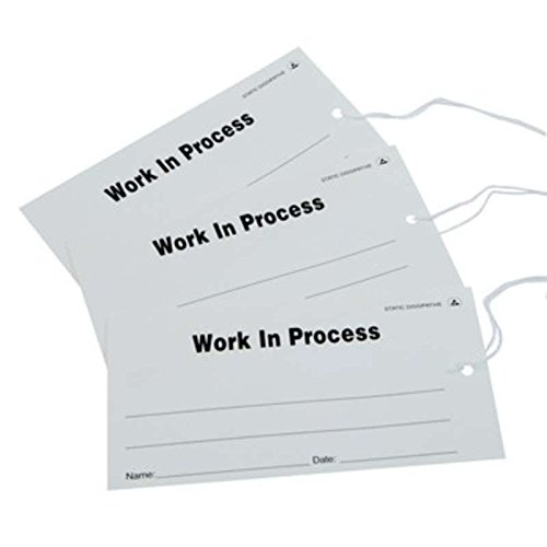 ESD-Safe White ''Work In Process'' Paper Tags, 2-3/4 x 5'', 100 per Package