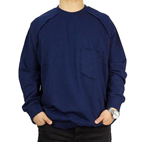 L'Essence Men's Navy-Blue Cotton Oversized Tunic Crew Neck for Layering, LSE1155 by L'ESSENCE DES HABITS