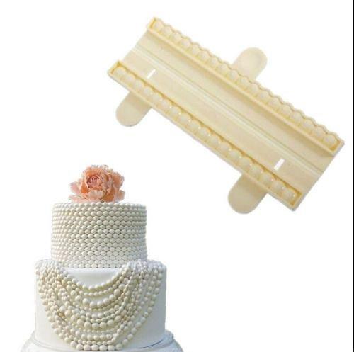 Bead Cutter Pearl Sugarcraft Fondant Cake Gum Paste Decorating Plastic Mold Tool