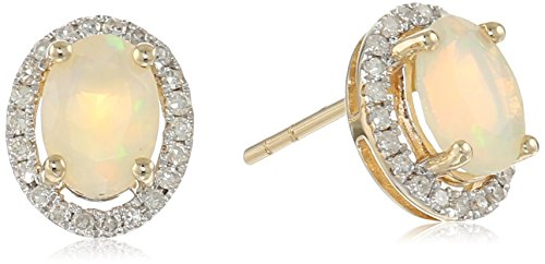 10k-Diamond-Princess-Diana-Oval-Halo-Stud-Earrings-15cttw-H-I-Color-I1-I2-Clarity