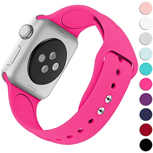 KOLEK Replacement Bands Compatible with Apple Watch 38mm / 40mm, Premium Silicone Strap Compatible with iWatch Series 4/3/2/1, S/M, Rose Pink