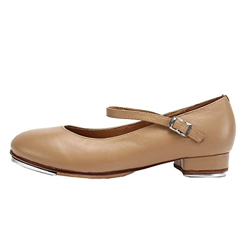 Leather Sole Genuine Brown Shoes Tan Brown Women Girls Full Tap wBW16