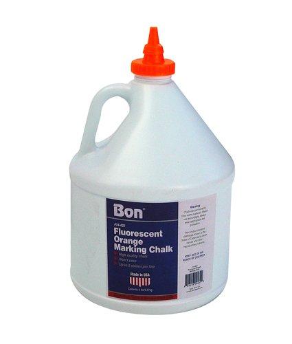 Bon 14-432 5-Pound Chalk for Chalk Box, Fluorescent - Chalk Fluorescent Orange