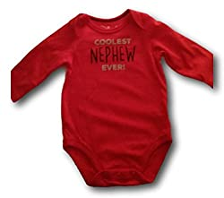 Baby Boy Jumping Beans Family Slogan Bodysuits (Varieity) (3 Months, Coolest Nephew Ever)