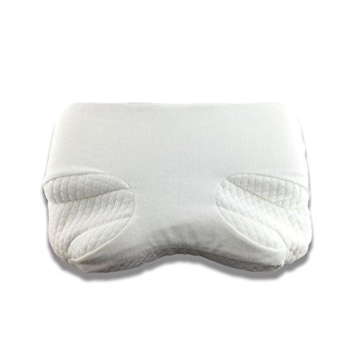 Pillow For CPAP, BiPAP, APAP Machine Users - Comfort for Side, Back, Stomach Sleepers to Reduce Face & Nasal Mask Pressure & Air Leaks - Contour Memory Foam For Neck & Spine Alignment