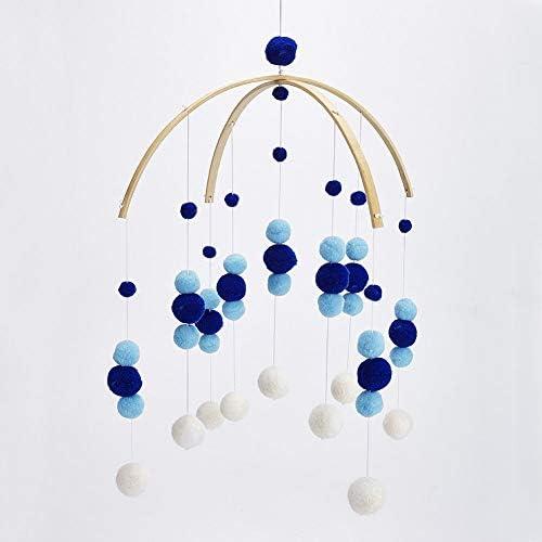 Dark Blue Fayeille Carillons /éoliens Home Decor Enfants Chambre Feutre Boule Pendentif Ornement Plafond Mignon