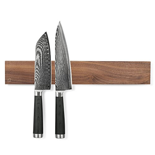 BLOWOUT SALE Flying K Walnut 12 Inch Wood Magnetic Knife Holder or Magnetic Knife Strip, Solid Walnut