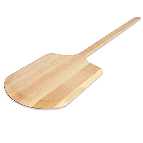New Star Foodservice 50240 Wooden Pizza Peel, 12 x 14 inch Blade, 42 inch overall by New Star Foodservice