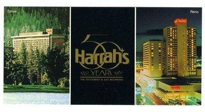 Harrahs Casino Nevada (Harrah's Hotel & Casino Reno & Lake Tahoe Nevada 50th Anniversary Postcard)
