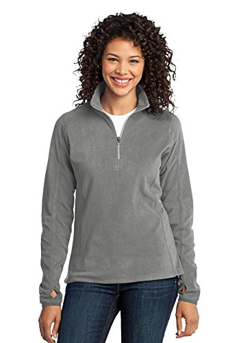 (Port Authority Women's Microfleece 1/2 Zip Pullover L Pearl Grey)