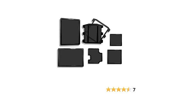 DEMCiflex Square black Filtre magn/étique pour Radiateur 2 x 120 mm