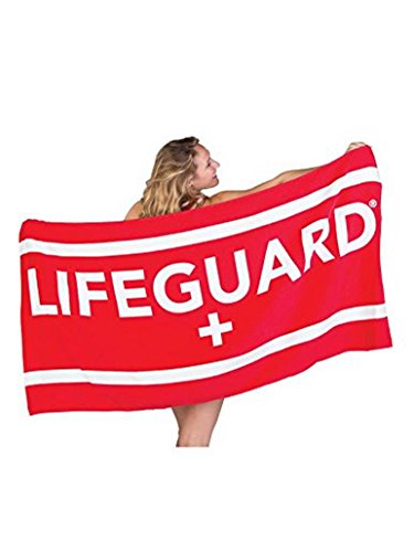 LIFEGUARD Officially Licensed Beach Towel Large Lightweight - Ideal for Beach, Pool, Outdoors and Camping